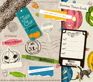 Vintage Halloween scrapbooking set. Stock Image