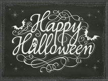 Vintage Halloween sign background chalkboard Stock Photography