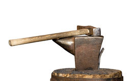 Vintage hammer and the anvil Stock Image