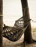 Vintage hammock on pine tree Royalty Free Stock Photography