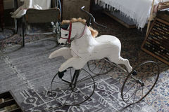 Vintage Hand Carved Horse Tricycle Royalty Free Stock Image