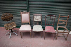 Vintage hand chairs on sale Stock Images