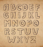 Vintage hand drawn abc Royalty Free Stock Images