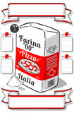 Vintage Hand Drawn Advertising Flour Pizza Page Royalty Free Stock Photography