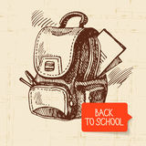 Vintage hand drawn back to school illustration Stock Images