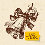 Vintage hand drawn back to school illustration Royalty Free Stock Photo