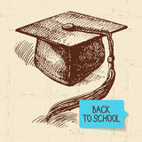 Vintage hand drawn back to school illustration Royalty Free Stock Photography