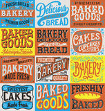 Vintage hand drawn bakery label set. Royalty Free Stock Photos