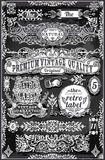 Vintage Hand Drawn Banners and Labels. Detailed illustration of a Vintage Hand Drawn Banners and Labels on Blackboard Royalty Free Stock Images