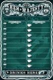 Vintage Hand Drawn Board for Pub Menu Royalty Free Stock Image