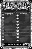 Vintage Hand Drawn Board for Pub Menu Royalty Free Stock Images
