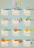 Vintage hand drawn calendar Royalty Free Stock Photo