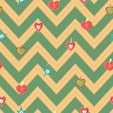Vintage hand drawn christmas hearts seamless pattern vector stock illustration
