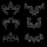Vintage hand drawn engraving design floral frames Stock Images