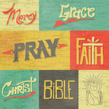 Vintage Hand Drawn Faith Graphics Royalty Free Stock Photography