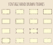 Vintage hand drawn frames Royalty Free Stock Images