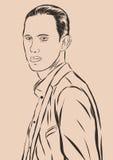Vintage Hand Drawn Gentleman. Men s clothing. Retro Illustration style. Vector EPS Royalty Free Stock Photos