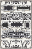 Vintage Hand Drawn Graphic Banners and Labels Royalty Free Stock Image