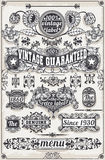 Vintage Hand Drawn Graphic Banners and Labels Stock Image