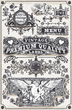 Vintage Hand Drawn Graphic Banners and Labels Royalty Free Stock Images