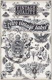 Vintage Hand Drawn Graphic Banners and Labels Stock Photo