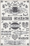 Vintage Hand Drawn Graphic Page Banners Stock Photo