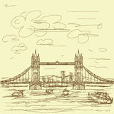 Tower bridge vintage Royalty Free Stock Photo