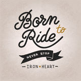 Vintage hand drawn lettering composition, biker Royalty Free Stock Photography