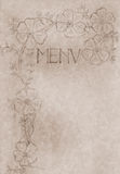 Vintage hand drawn menu card cover Royalty Free Stock Image
