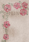 Vintage hand drawn menu card cover, artwork Royalty Free Stock Photography