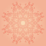 Vintage hand-drawn pattern with flowers and leaves. For your creativity royalty free illustration
