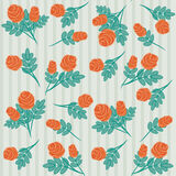 Vintage hand-drawn roses' pattern Stock Photography