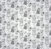 Vintage Hand Drawn Seamless Pattern Stock Photography