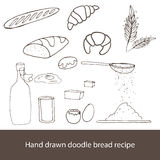 Vintage hand drawn sketch style bakery set Royalty Free Stock Images