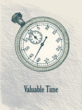 Vintage hand drawn stopwatch Royalty Free Stock Images