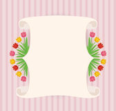 Vintage hand-drawn tulips' banner stock images