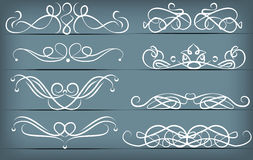 Vintage hand drawn vignette set Royalty Free Stock Image