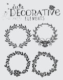 Vintage Hand Drawn Wreath with Floral Elements Royalty Free Stock Photo