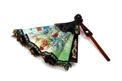 Vintage hand fan Royalty Free Stock Image