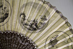 Vintage hand fan. Picture of an vintage hand fan Stock Image