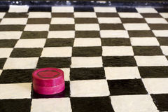 Vintage Hand Made Checker Board Stock Photography