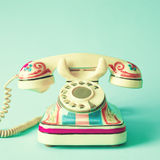 Vintage hand-painted telephone Royalty Free Stock Image