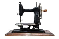 Vintage Hand Sewing Machine Stock Photo