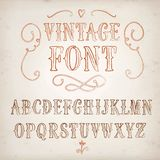 Vintage hand written  font Royalty Free Stock Photos