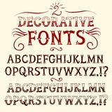 Vintage hand written  fonts set Royalty Free Stock Photography