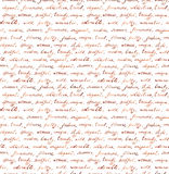 Vintage hand written letter - seamless text. Repeating pattern, handwritten background Royalty Free Stock Photos