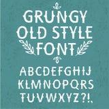 Vintage hand written  textured font Stock Image