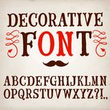 Vintage hand written vector font. Hand drawn decorative vintage vector ABC letters on paper background. Nice font for your design vector illustration