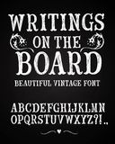 Vintage hand written vector font Royalty Free Stock Photo