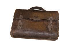 Vintage handbag made of leather stock photography